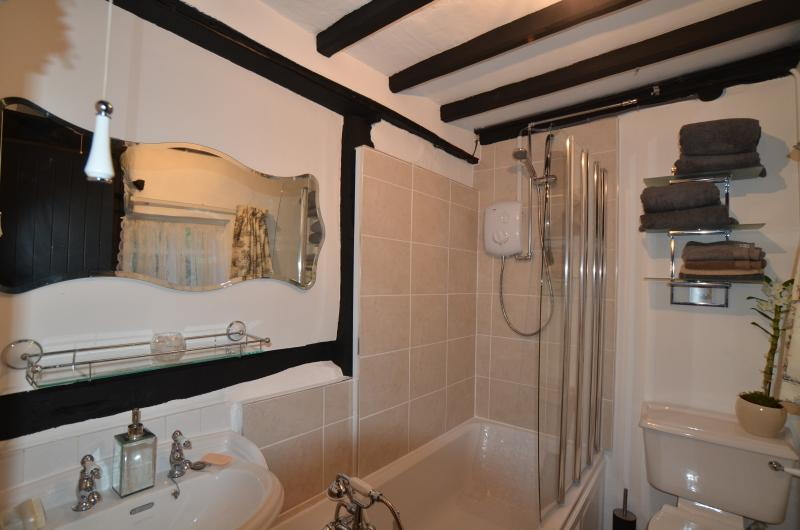 Have a relaxing soak in the modernised bathroom