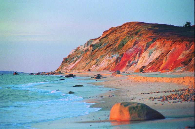 Aquinnah Clay Cliffs Beach near Gay Head Lighthouse