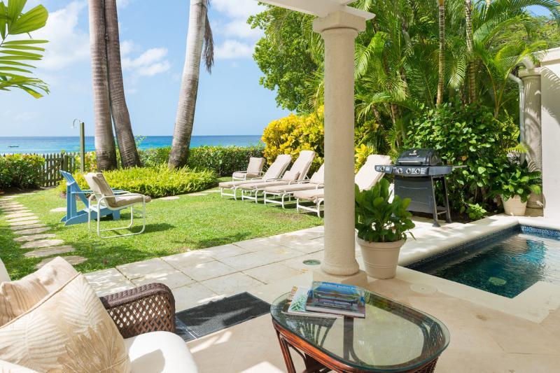 Le jardin tropical idyllique et la piscine sont les endroits parfaits pour se détendre