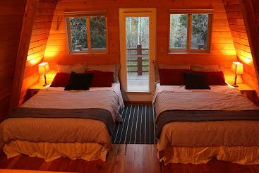 2 Queen beds in loft with walkout balcony