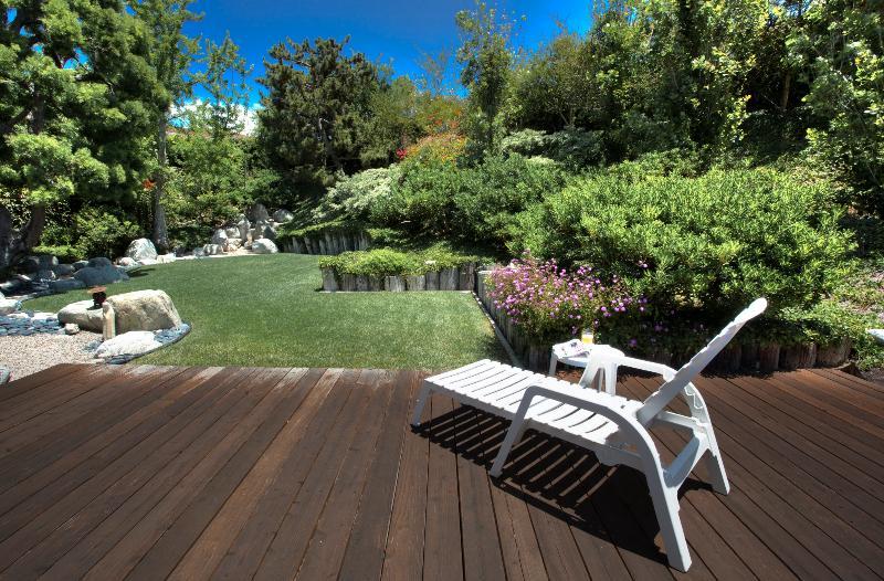 large redwood deck