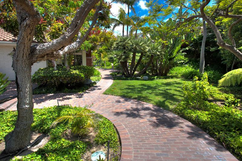 Garden path encircles the house