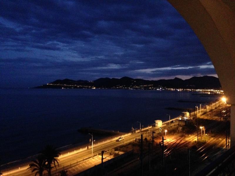 Vue de la terrasse la nuit