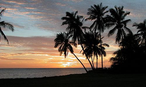 Sunset at Kapuaiwa Park in Kaunakakai