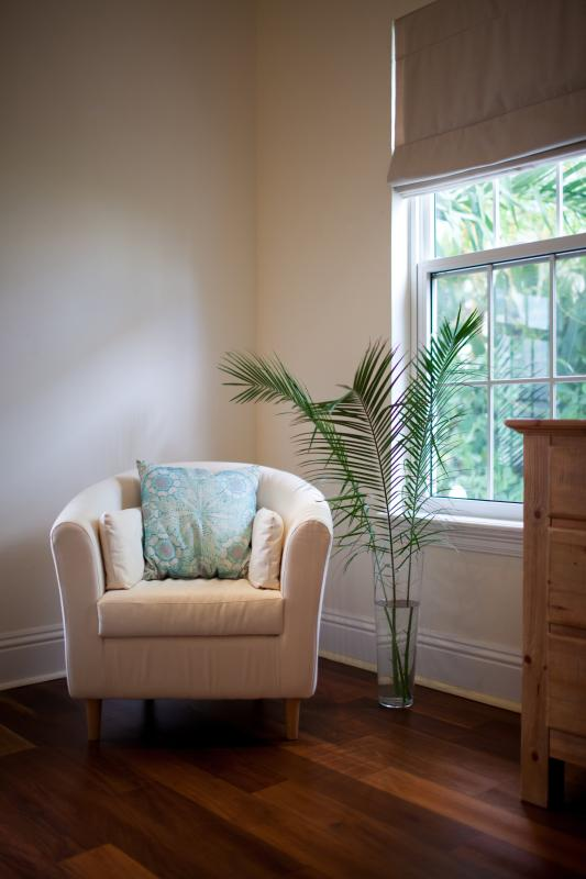 A quiet nook in the downstairs guest room for indulging in your favourite vacation reading