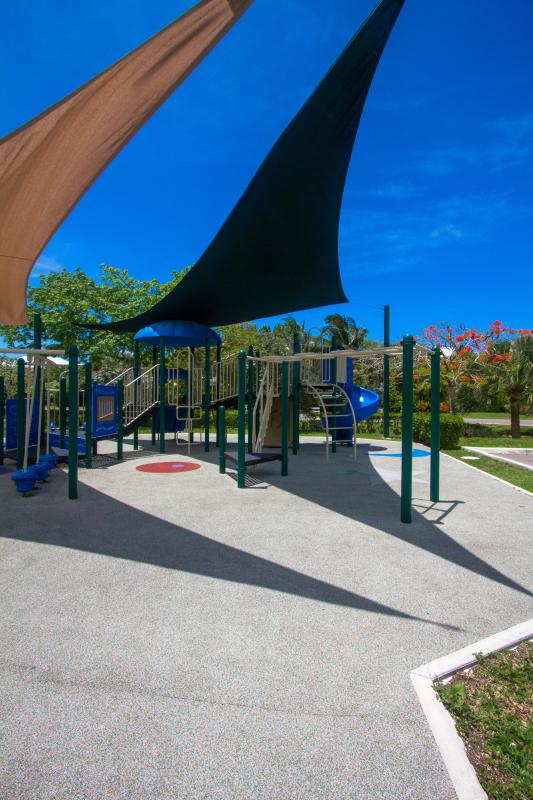 Two different playgrounds in this exclusive community keep the little guests entertained for hours