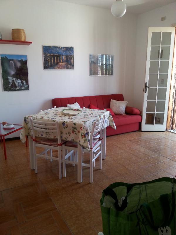 stay from which you can access the apartment with sofa bed, dining table, fully equipped with tv wall