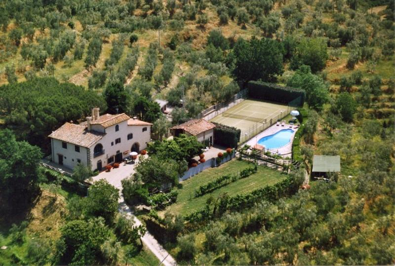 View of the property from above