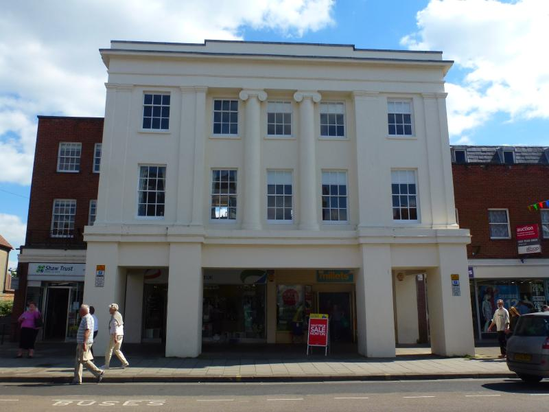 The front of this historic Grade ll listed building built in 1830 by the mayor of the town