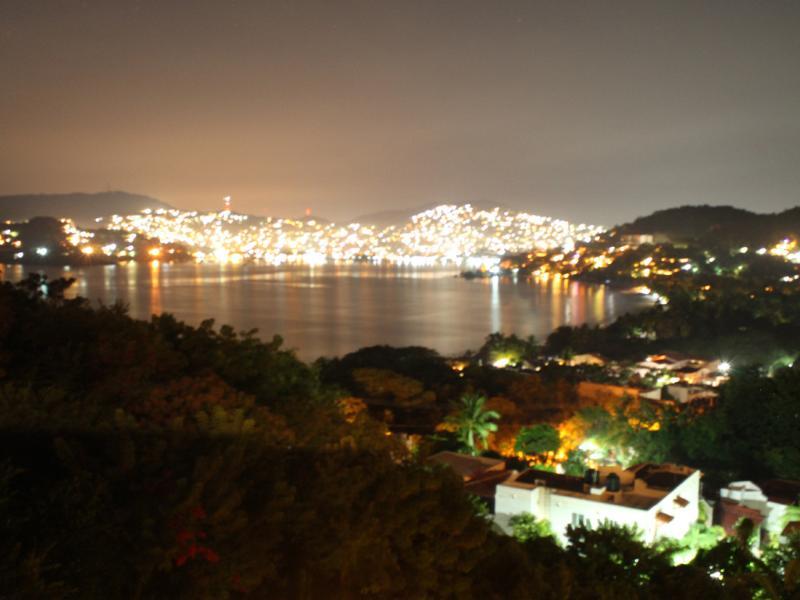 Vista das luzes da cidade