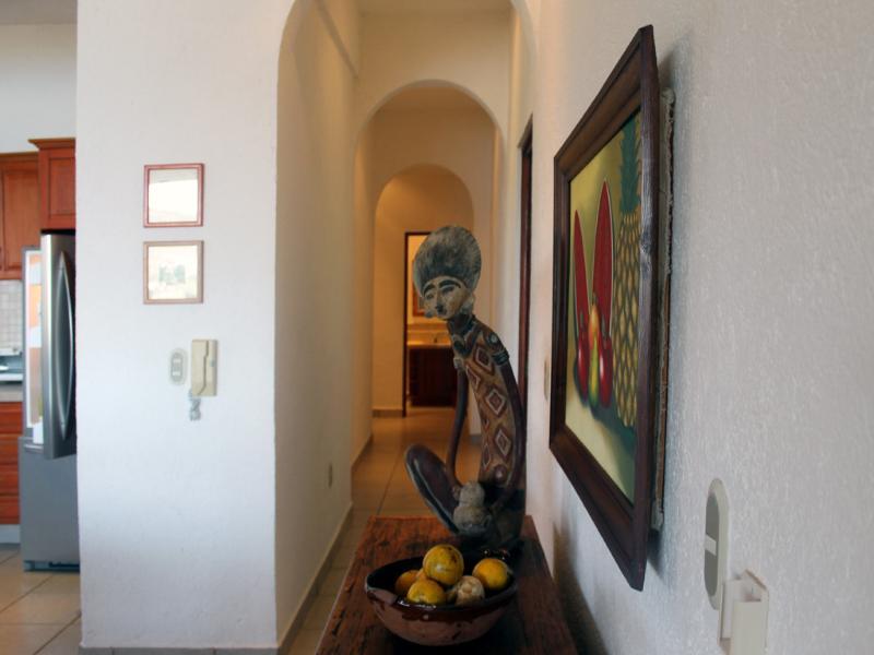 Corredor para os quartos (autêntica arte mexicana e artefatos)