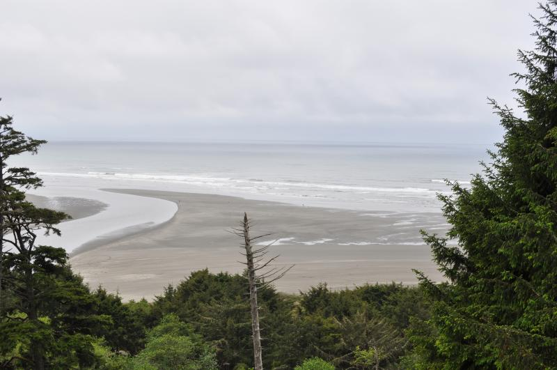 View from the deck, where the Copalis River meets the Pacific