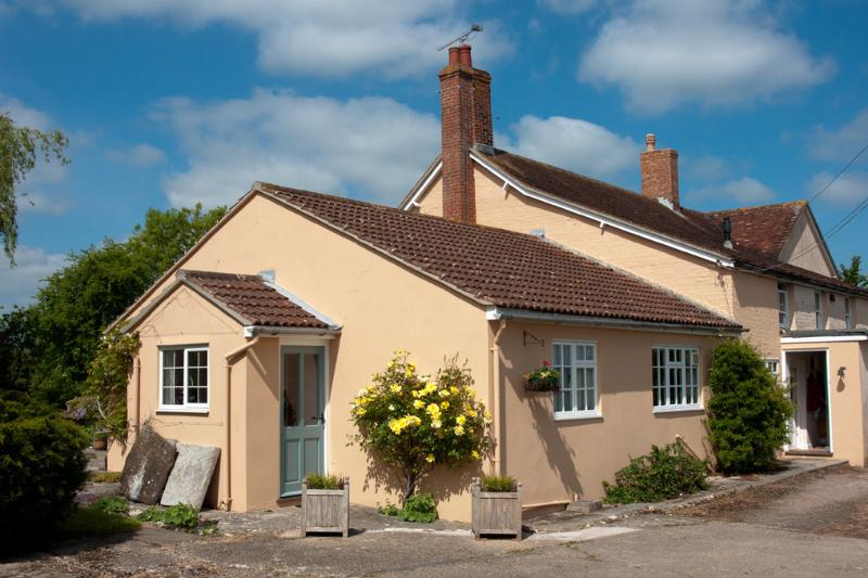 The annexe has it's own porched access from the outside.