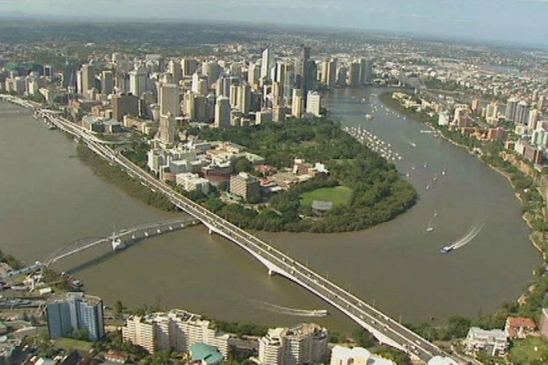 Brisbane River City view from a bird's point of view !