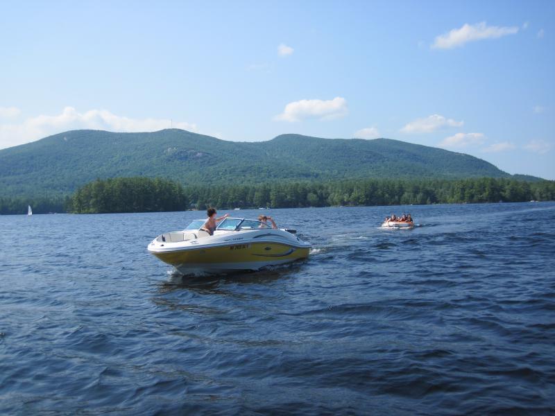 Tubing on Moose Pond