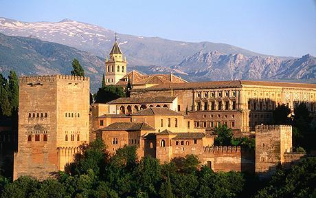 ALHAMBRA PALACE IN NEARBY GRANADA