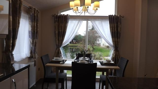 beautiful views over the ponds from dining table