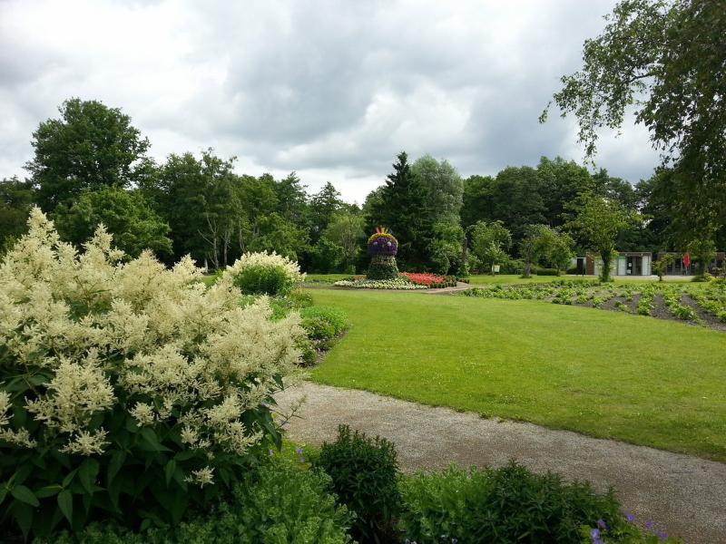 Vrede en rust in het stadspark Winsener