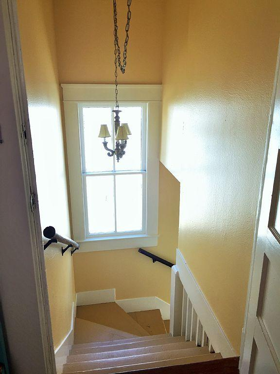 This is a second floor flat, with a private entry