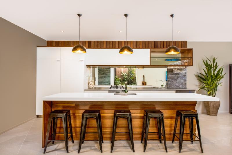 Sleek, modern kitchen with high end appliances