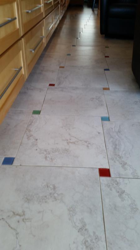 Seaglass on ceramic tiled floors!
