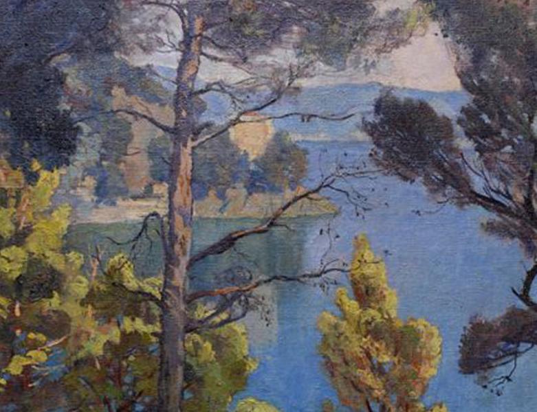 View from Niasca, Oil on canvas, Emilio Bocciardo 1937