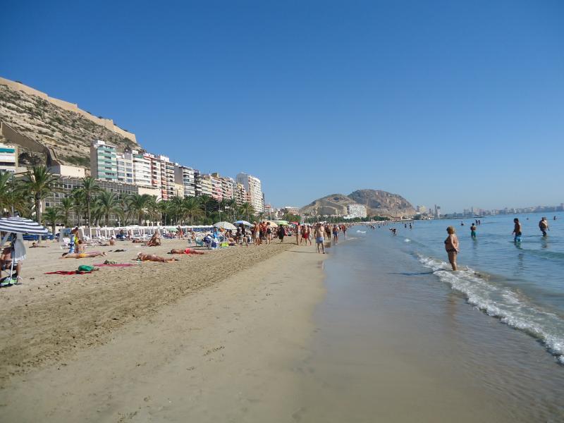 Alicante central beach Postiguet