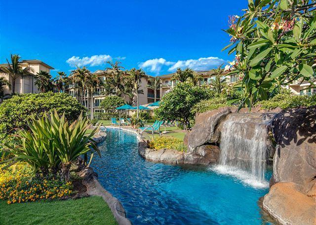 G405 - Top Floor Incredible Mountain Views **AC** Resort Pool & Restaurant, location de vacances à Kauai