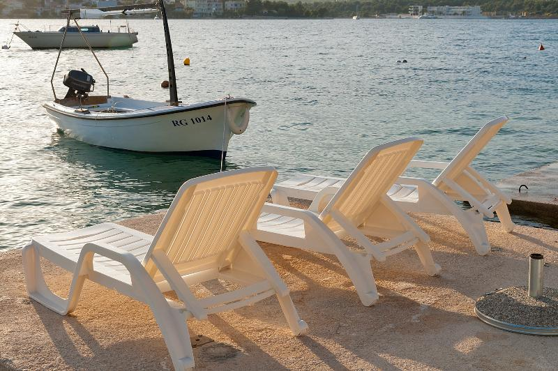 the dock with the deckchairs