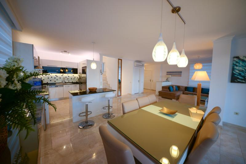 Open plan kitchen dining living room