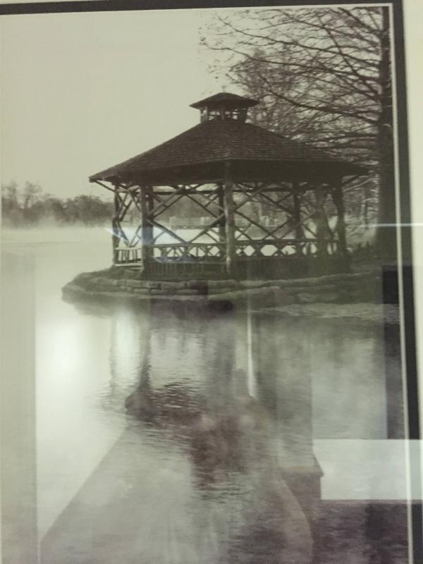 Landa Park is an easy walk from the condo and has this gazebo, trails and springs.
