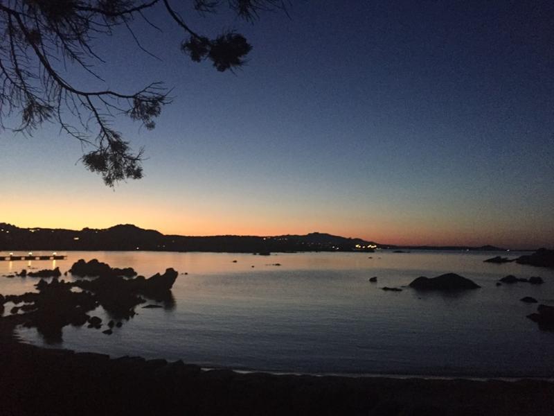 Sonnenuntergang über der Bucht und... Ende eines schönen Tages...