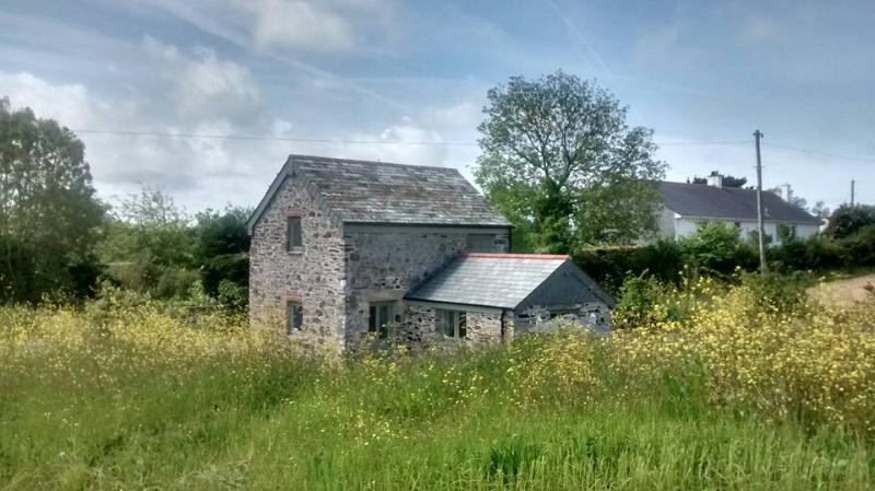 View across open farm land.