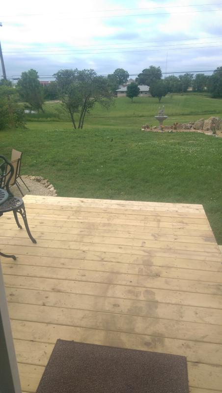 view off of the back deck