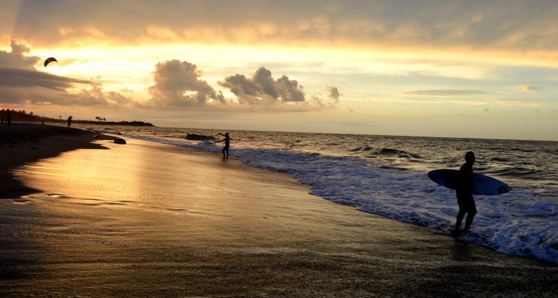 Sunset at kite beach