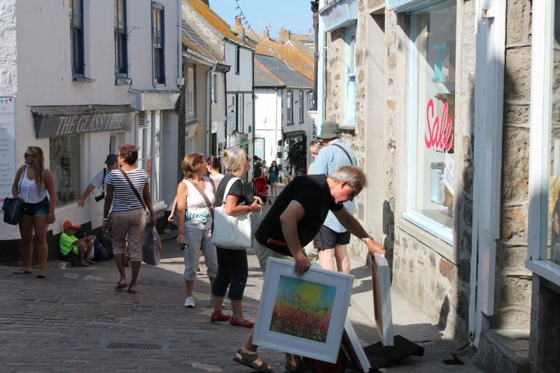 A view of Fore Street, someone has just bought a picture!