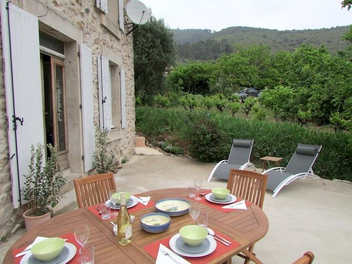 Private terrace with views of the town and neighbouring vineyard