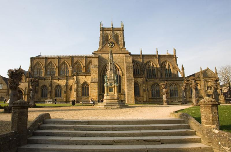 Sherborne's famous Abbey - used in may films such as Goodbye Mr Chips