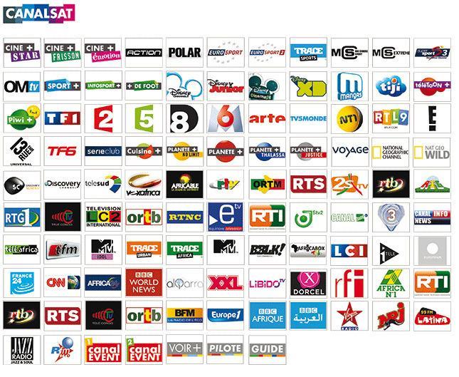 Bouquet Canal Sat dispo / International Channels Available