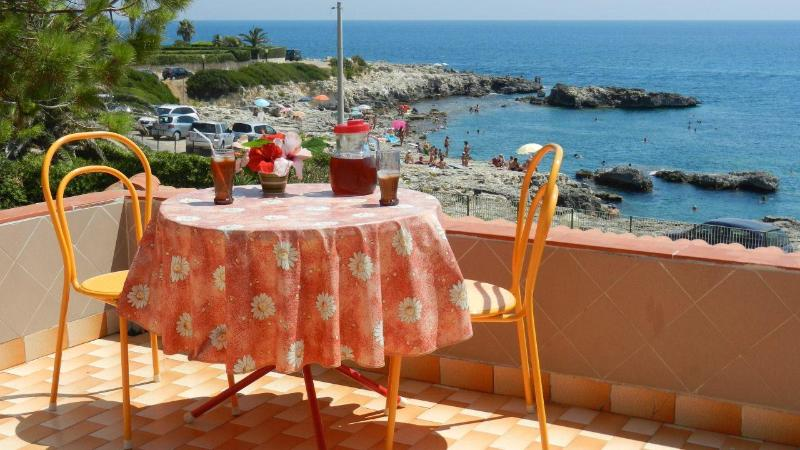 Example of a sea view from one of the terraces of the holiday house