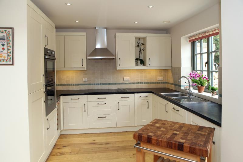 The kitchen, part of the open plan ground floor