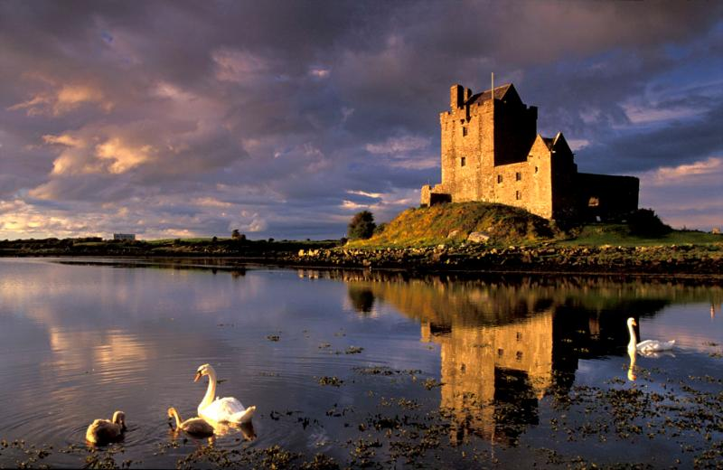 The nearby picturesque Dunguaire castle.
