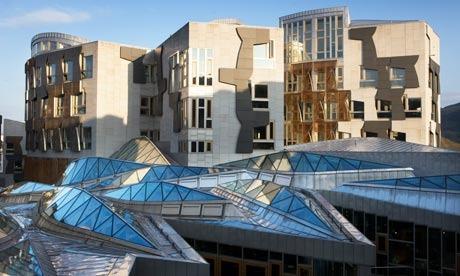 O edifício do Parlamento escocês