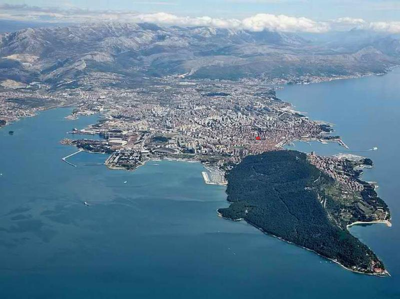 This is a panoramic view of Split, can You find my apartment? A hint; try to find a red circle...