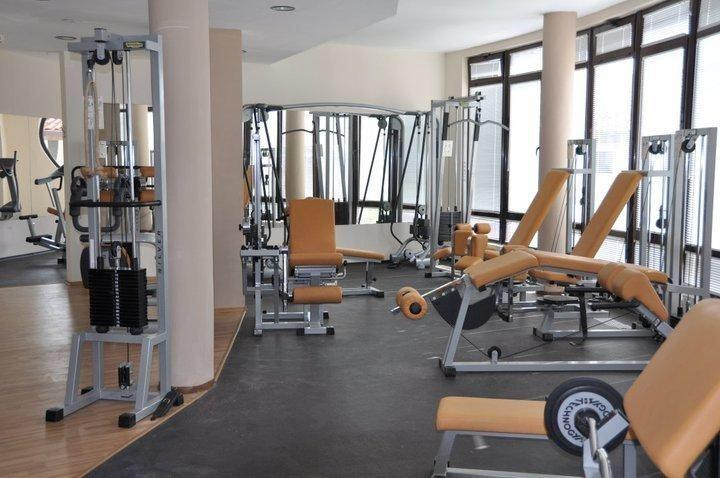 The gym. There is also another room with cardio machines.