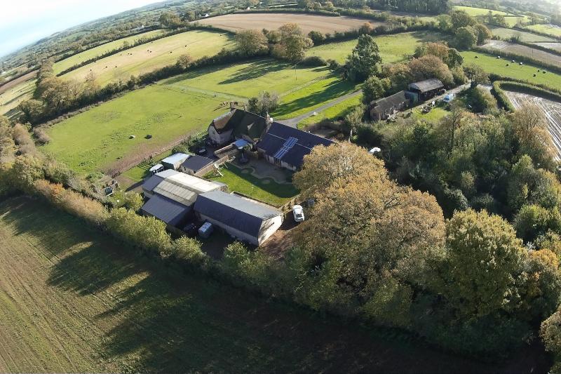 Una vista aérea de la finca Jurston 900 años