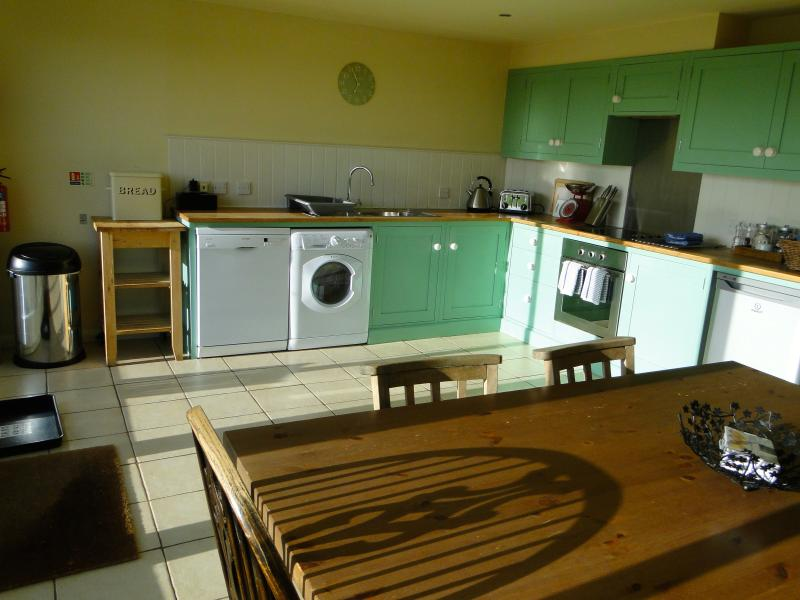 Dairy House Kitchen, fully equipped with dishwasher, washer/dryer, fridge, microwave