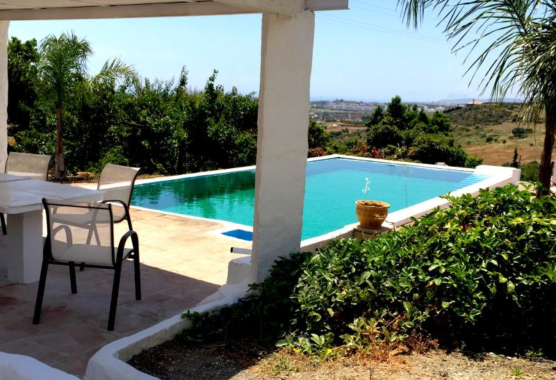 Access to the  natural pool situated on top of finca Inspira