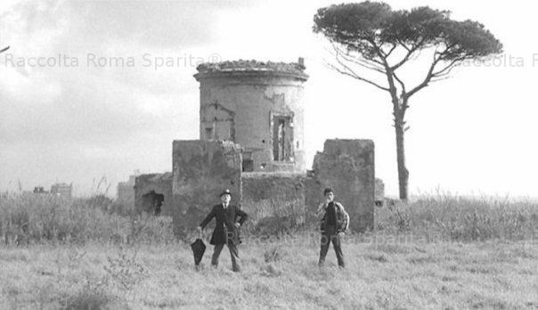 Portuense film set of the hawks and Pasolini's ucceliini