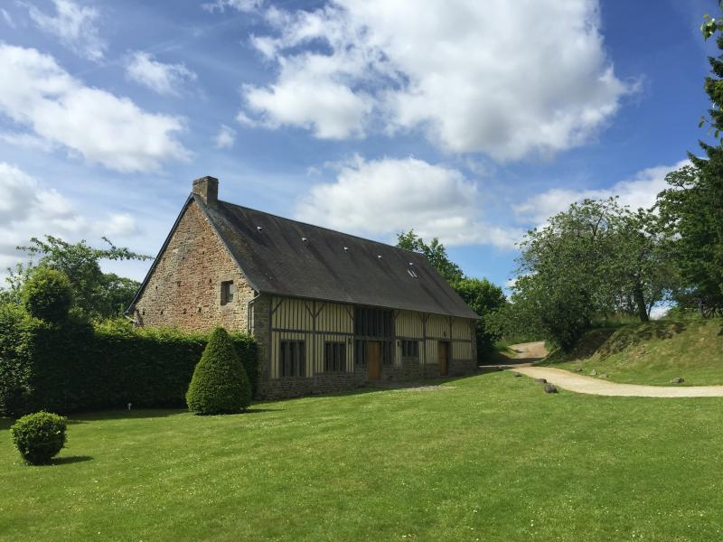 The Barn from across the courtyard. It has an orchard to the front, parking and big garden.